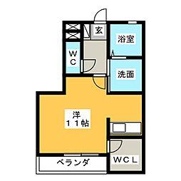ロジュマン神宮東[2階]の間取り
