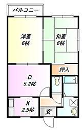 メイプル丸山台[2階]の間取り