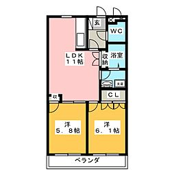 オータムめぐみ[3階]の間取り
