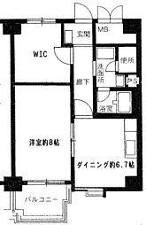 第1ロイヤルハイツ中尾[8階]の間取り