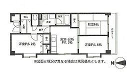サンパティック荏田[4階]の間取り