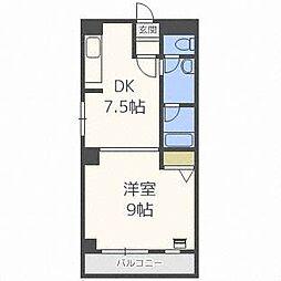 琴似1・6マンション[3階]の間取り