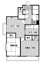 シンベルク横濱[3階]の間取り