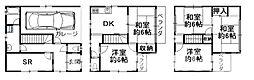 [一戸建] 大阪府大阪市阿倍野区阪南町3丁目 の賃貸【/】の間取り