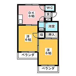 第5ロイヤル大嶋[2階]の間取り