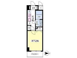 JR成田線 成田駅 バス5分 ボンベルタ下車 徒歩1分の賃貸マンション 2階1Kの間取り