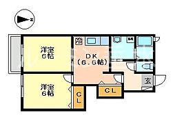 リッツハウス ヴィラ[1階]の間取り