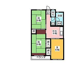 栗原コーポ[2階]の間取り