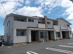 鹿児島県指宿市西方の賃貸アパートの外観