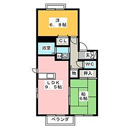 グランドメゾン依佐美E棟[2階]の間取り