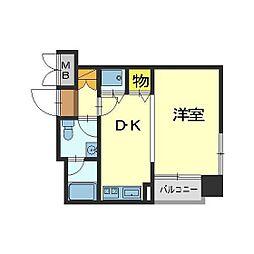 メロディーハイム富山丸の内[5階]の間取り