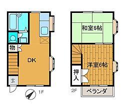 [テラスハウス] 神奈川県座間市相模が丘6丁目 の賃貸【/】の間取り