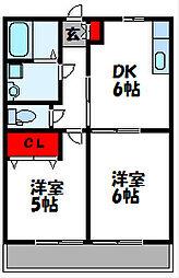 レトアウエスト[2階]の間取り
