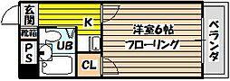 ハウスアイ菅原[4階]の間取り