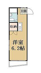 ハイツマルクマ[2階]の間取り