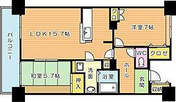 ルワージュ八幡駅前I(特優賃)[11階]の間取り