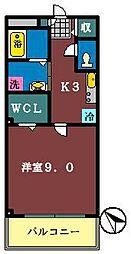 グレース6[302号室]の間取り
