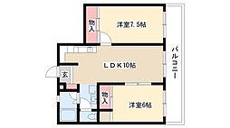 愛知県名古屋市南区前浜通3丁目の賃貸マンションの間取り