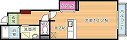 フィデール建郷[1階]の間取り