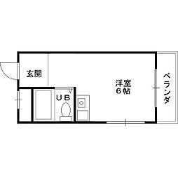 近栄ハイツ[10号室]の間取り