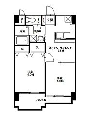 ニッセイディーセント小笹[6階]の間取り