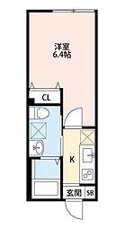 クレアシオン中板橋[203号室]の間取り