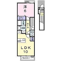 メゾン ソレイユ[2階]の間取り