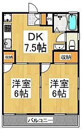 第2ホワイトハイツ[2階]の間取り