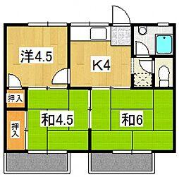 ハイツ神崎[203号室号室]の間取り