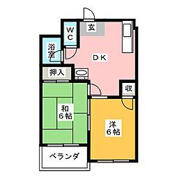 第6村上ビル[1階]の間取り