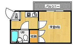 京都府京都市北区紫野上柏野町の賃貸マンションの間取り