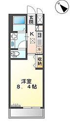つくばエクスプレス つくば駅 徒歩36分の賃貸アパート 1階1Kの間取り