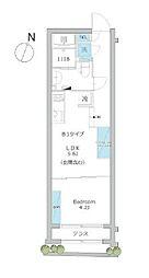 東京メトロ有楽町線 護国寺駅 徒歩9分の賃貸マンション 1階1Kの間取り