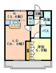 アルノ[2階]の間取り