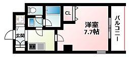 Osaka Metro御堂筋線 東三国駅 徒歩5分の賃貸マンション 2階1Kの間取り