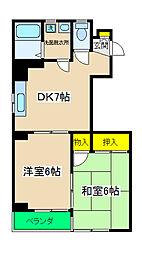 ピュアパレス横浜[302号室]の間取り