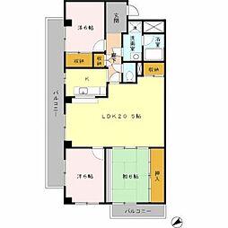 オリオノハイム II[3階]の間取り