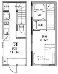東中野テラス[1号室]の間取り
