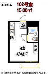 リバーサイド石神井[1階]の間取り
