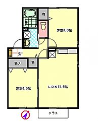 メゾン・アンソレイユ I[1階]の間取り