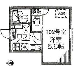 東京都新宿区下落合3丁目の賃貸アパートの間取り