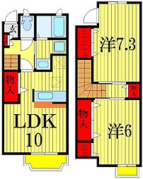 [テラスハウス] 千葉県習志野市香澄5丁目 の賃貸【/】の間取り