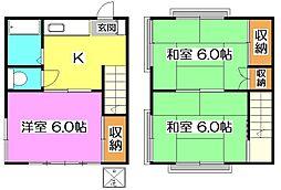 [一戸建] 東京都東村山市秋津町2丁目 の賃貸【/】の間取り