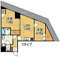 DAIKOマンション[10階]の間取り