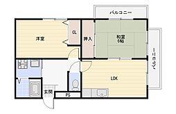 サニーハイツ金田II(ツー)[2階]の間取り