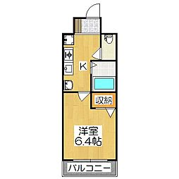 エイペックス京都新京極1[3F号室]の間取り