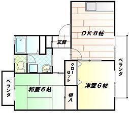 リヒテン白江[2階]の間取り