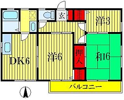 HOUSE S.A.N[2階]の間取り