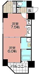 エンクレスト天神CLASS(708)[708号室]の間取り