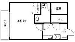 クレフラスト井尻3丁目[202号室]の間取り